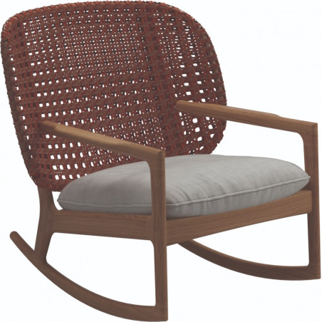 Gloster Kay Rocking Chair Low Back | Copper Wicker