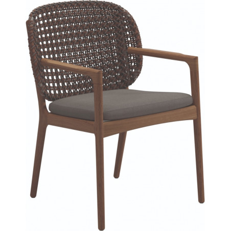 Gloster Kay Dining Chair with Arms | Brindle Wicker