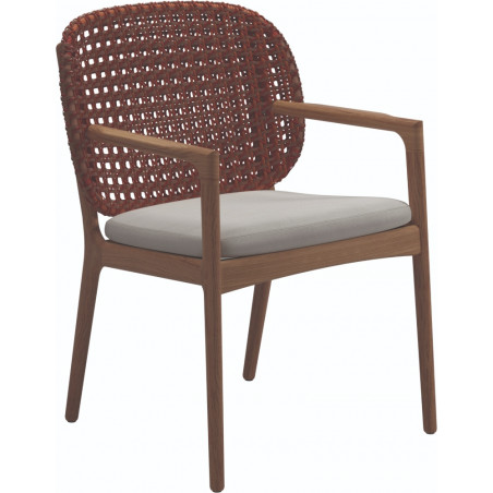 Gloster Kay Dining Chair with Arms | Copper Wicker