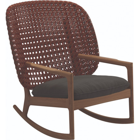 Gloster Kay Rocking Chair High Back | Copper Wicker