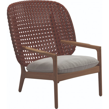 Gloster Kay Lounge Chair High Back | Copper Wicker