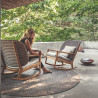 Gloster Kay Lounge Chair High Back   Copper Wicker