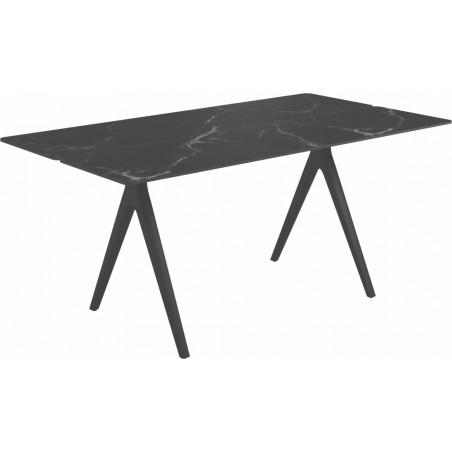 Gloster Split Outdoor Dining Table Nero Ceramic 170 CM