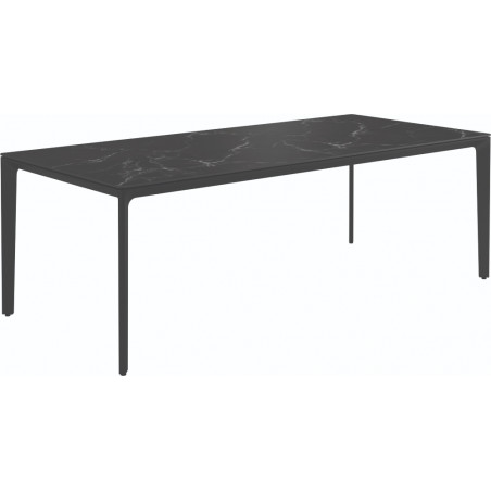 Gloster Carver Outdoor Dining Table Nero Ceramic 220 CM