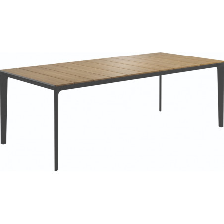 Gloster Carver Outdoor Dining Table Nero Teak 220 CM