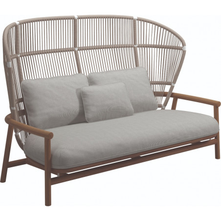 Gloster Fern 2 Seater Outdoor Sofa Dune | High Back