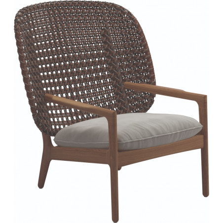 Gloster Kay Lounge Chair High Back | Brindle Wicker
