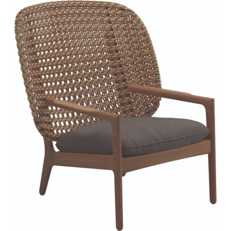 Gloster Kay Lounge Chair High Back | Harvest Wicker