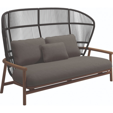 Gloster Fern 2 Seater Outdoor Sofa Raven | High Back