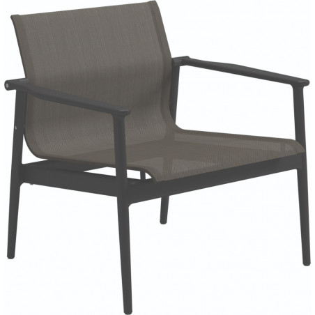 Gloster 180 Stacking Outdoor Lounge Chair Meteor Granite