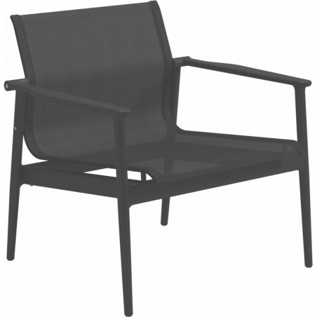Gloster 180 Stacking Outdoor Lounge Chair Meteor Anthracite