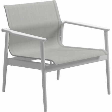 Gloster 180 Stacking Outdoor Lounge Chair White Seagull