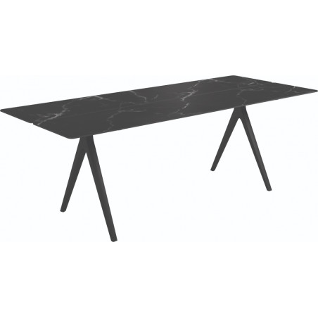 Gloster Split Outdoor Dining Table Nero Ceramic 220 CM