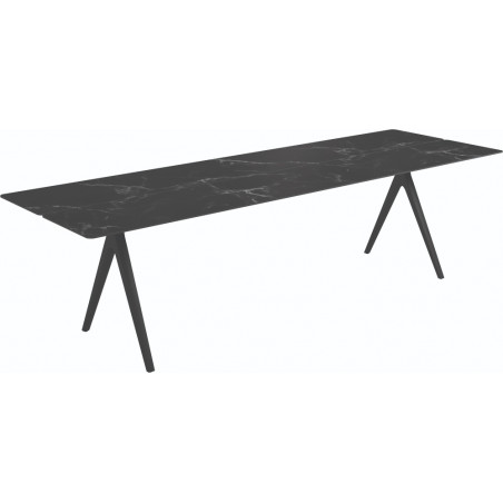 Gloster Split Outdoor Dining Table Nero Ceramic 280 CM