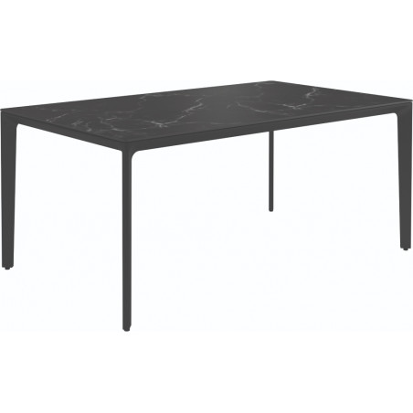 Gloster Carver Outdoor Dining Table Nero Ceramic 170 CM