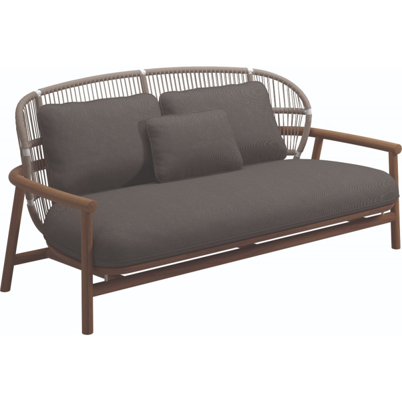 Gloster Fern 2 Seater Outdoor Sofa Dune | Low Back