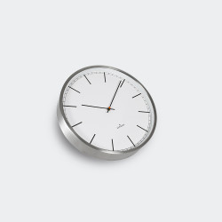 Huygens Wall Clock One 35cm Stainless Steel White Index