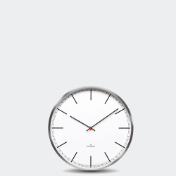 Huygens Wall Clock One 25cm Stainless Steel White Index