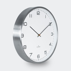 Huygens Wall Clock One 35cm Stainless Steel White Arabic