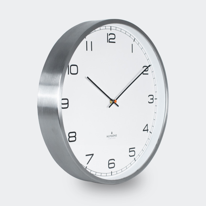 Huygens Wall Clock One 25cm Stainless Steel White Arabic