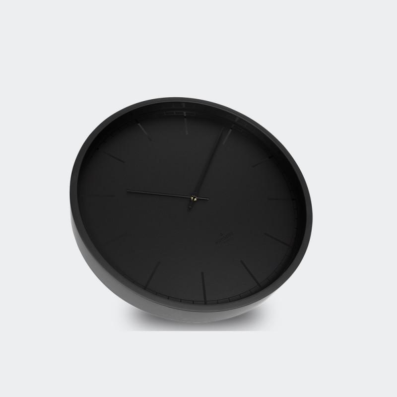 Huygens Wall Clock Tone 45 Black