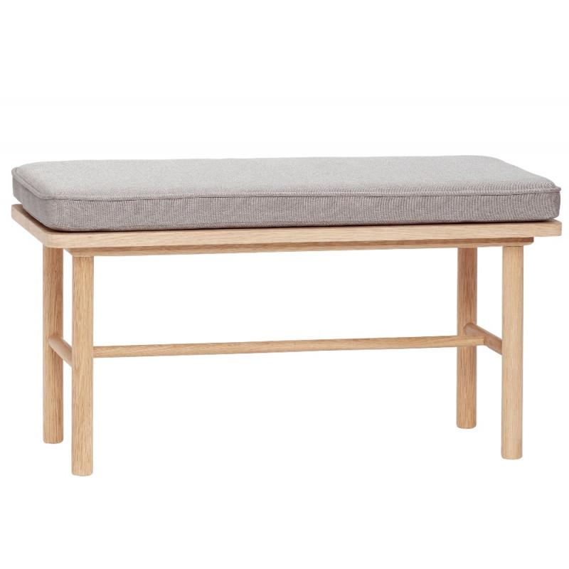 Hubsch Bench with Cushion FSC Oak