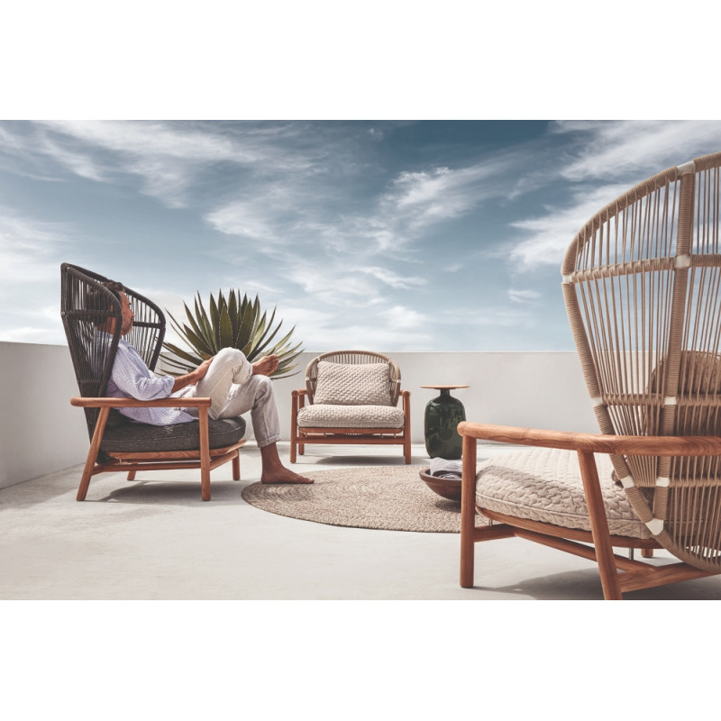 Gloster Fern 2 Seater Outdoor Sofa Raven | Low Back