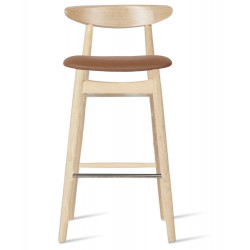 Vincent Sheppard Counter Stool with Upholstered Seat Oak