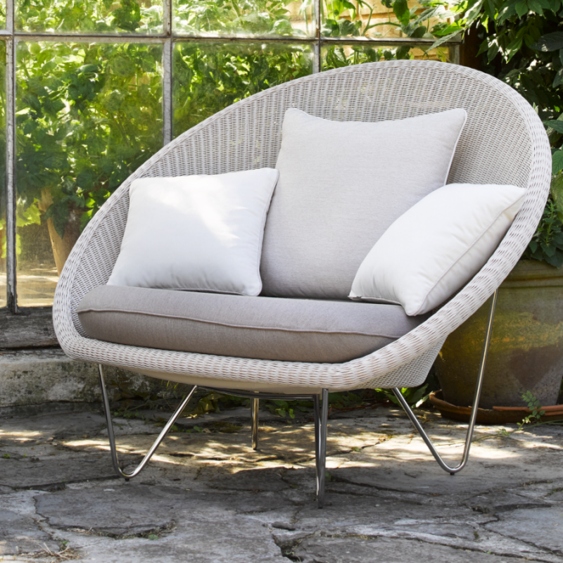 Vincent Sheppard Gipsy Lounge Chair Stainless Steel Legs