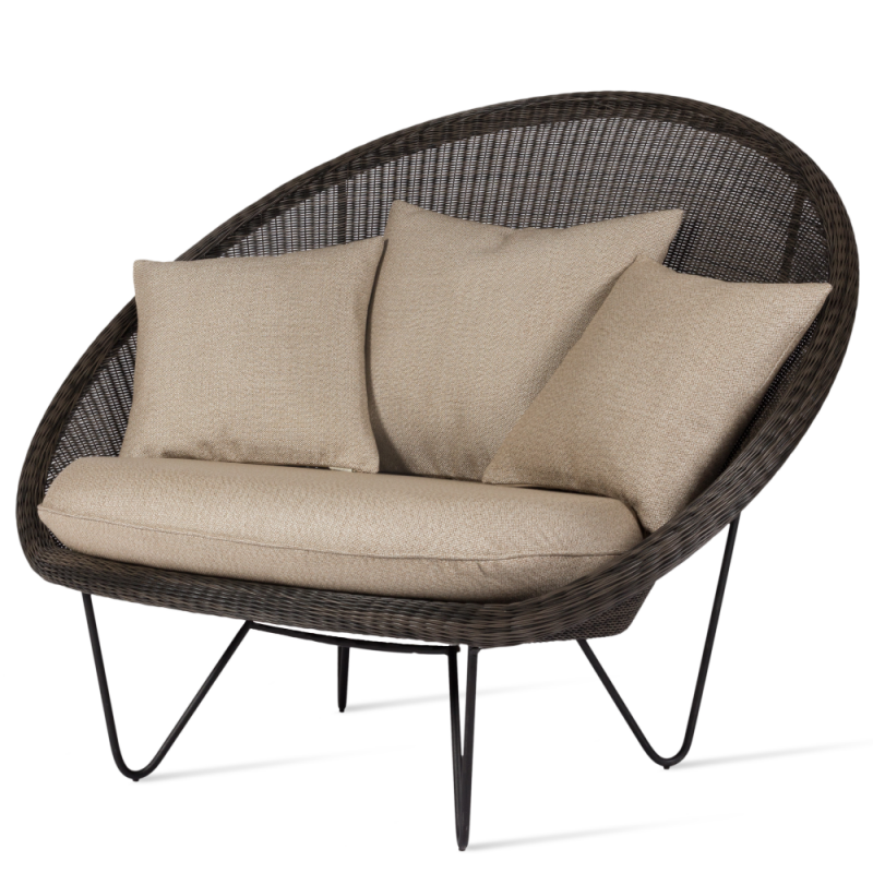 Vincent Sheppard Gipsy Lounge Chair Black Coated Legs