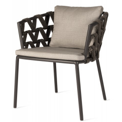 Vincent Sheppard Leo Dining Chair with Savane Zinc Fabric