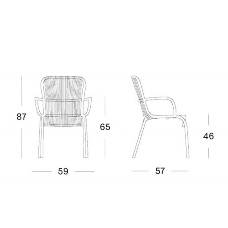 Vincent Sheppard Loop Outdoor Dining Chair Taupe