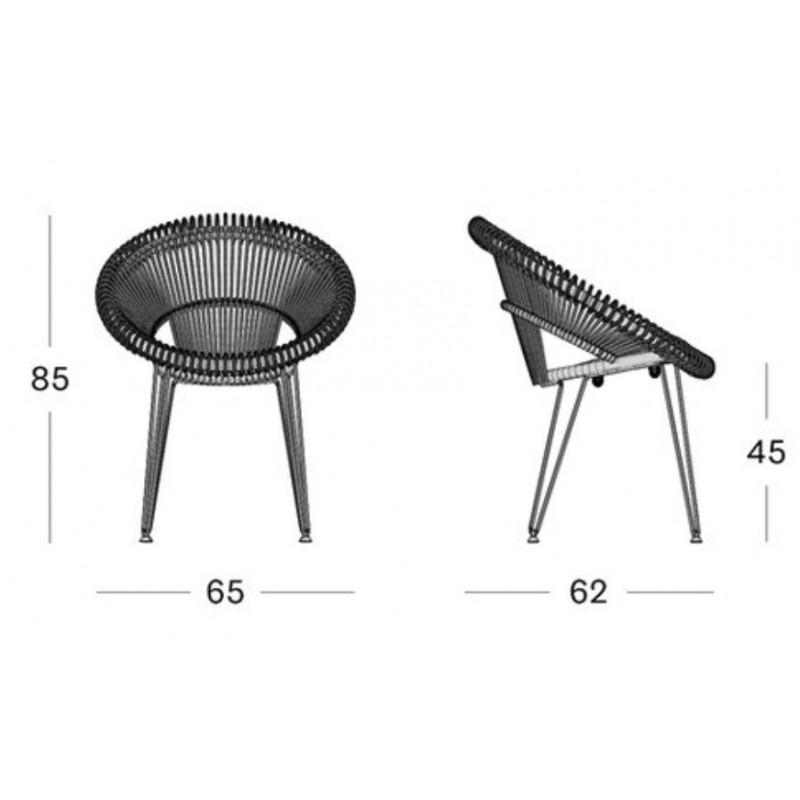 Vincent Sheppard Roxy Garden Dining Chair - Natural
