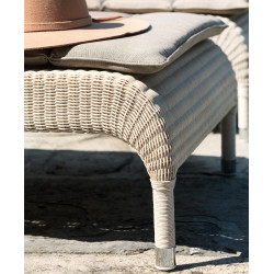 Vincent Sheppard Safi Rattan Outdoor Sun Lounger Old Lace