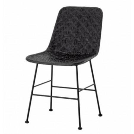 Bloomingville Kitty Dining Chair Black Rattan