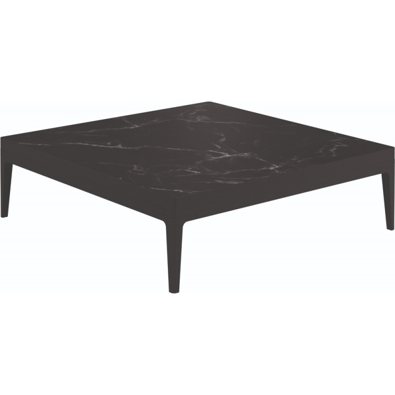 Gloster Grid Square Coffee Table Nero Ceramic