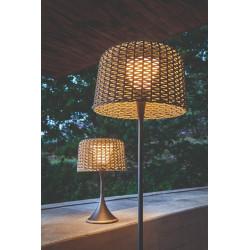 Gloster Ambient Mesh Outdoor Floor Lamp Meteor Carob