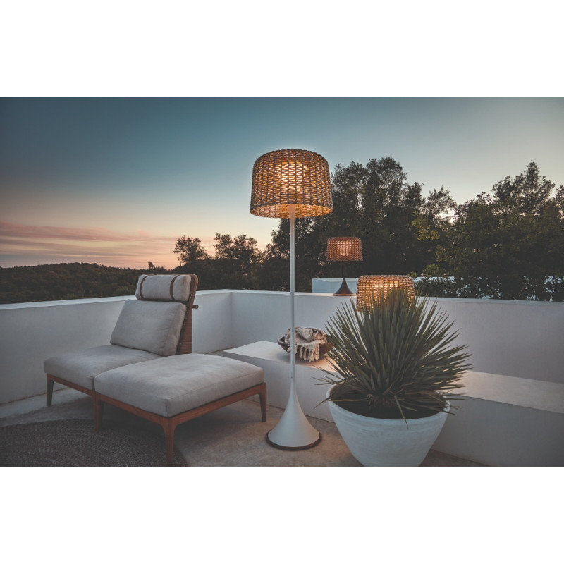 Gloster Ambient Mesh Outdoor Table Lamp Meteor Carob