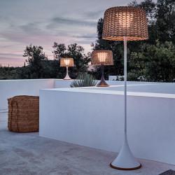 Gloster Ambient Mesh Outdoor Floor Lamp White Sorrel