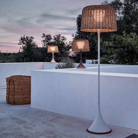 Gloster Ambient Mesh Outdoor Floor Lamp White Sorrel