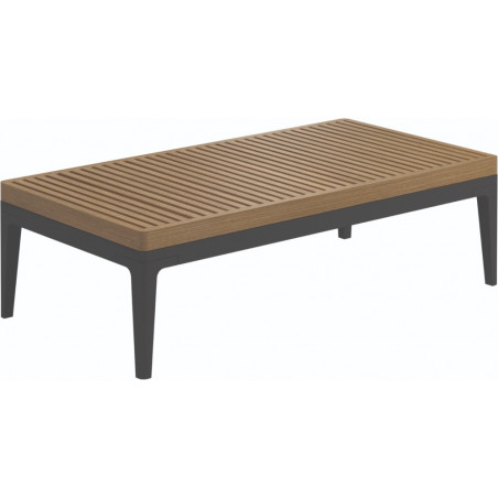 Gloster Grid Small Coffee Table Teak