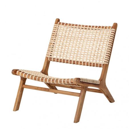 Bloomingville Keila Lounge Chair, Nature, Teak