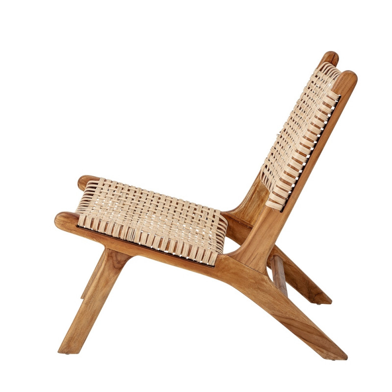 Bloomingville Keila Lounge Chair, Nature, Teak