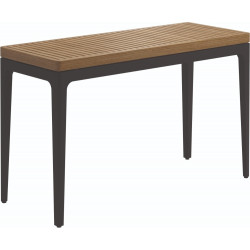 Gloster Grid Console Table Teak 103cm x 40cm