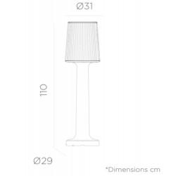 Newgarden Carmen Outdoor Indoor Floor Lamp Battery 110 CM