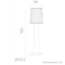 Newgarden Carmen Outdoor Indoor Floor Lamp Battery 165 CM