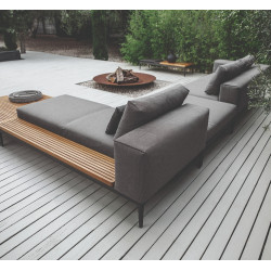 Gloster Grid Left / Right Chill Chaise Unit Meteor Teak