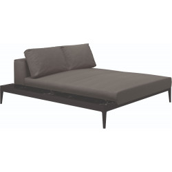 Gloster Grid Left / Right Chill Chaise Unit - Ceramic