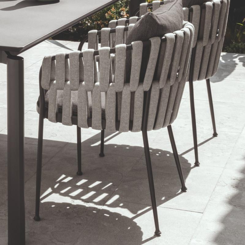 Talenti Frame Dining Armchair Graphite Dark Grey