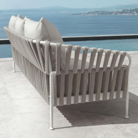 Talenti Frame 2 Seater Sofa White Silver